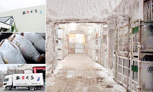 本まぐろ直売所横須賀本店冷凍倉庫
